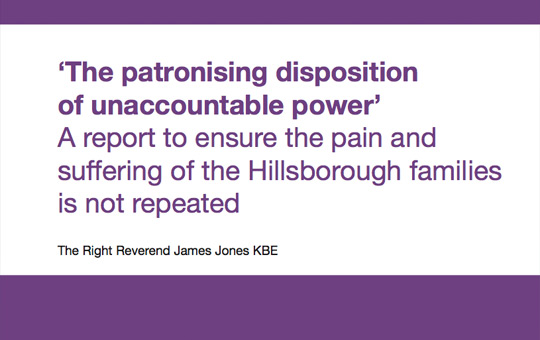 """An image of the cover of the report """"The Patronising Disposition of Unaccountable Power"""""""